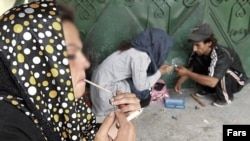 Drug users in Iran - Undated