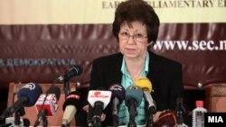Прес-конференција на ДИК за изборните резултати од првиот круг на претседателските избори.