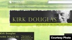 وبلاگ کرک داگلاس در مای اسپیس