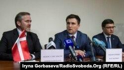 Слева направо Андерс Самуэльсен, Павел Климкин, Вадим Бойченко