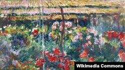 Клёд Манэ, «Сад з касачамі ў Жывэрні» (1899-1900).