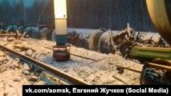 Ж/д авария в Омской области