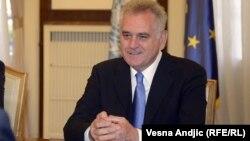 Српскиот претседател Томислав Николиќ.