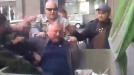 Former Cossack leader Oleksandr Panchenko is among many officials who have been thrown into trash containers.