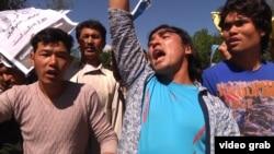 Hazaralar Kabulda protest geçirýär