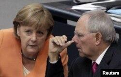 Ангела Меркель и Вольфганг Шойбле