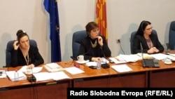 Седница на Собраниската комисија за труд и социјална политика.