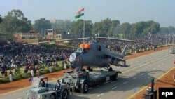 An Indian MI-25 attack helicopter during the Republic Day Parade in New Delhi (file photo).