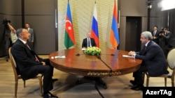 İlham Əliyev, Vladimir Putin və Serzh Sarkisian