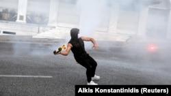 Yunanıstanda etiraz aksiyası