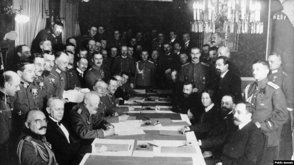Подписание Брест-Литовского мирного договора