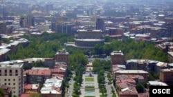 Pamje nga kryeqyteti Erevan i Armenisë