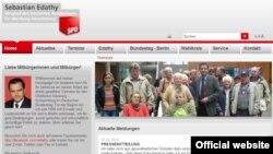 Pagina Internet a ministrului demisionat