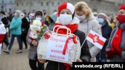 Марш пенсионеров в Минске, 19 октября 2020