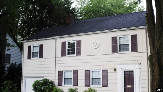 The house in Montclair, New Jersey, where Richard and Cynthia Murphy were arrested by the FBI. Eight others were also charged in connection with an alleged Russia spy ring.