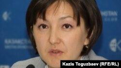 Адам құқығын қорғау бюросы Астана бөлімшесінің жетекшісі Анар Ибраева. Астана, 23 маусым 2011 жыл.