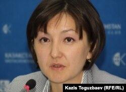 Қазақстандағы адам құқығы бюросының Астана қалалық филиалы басшысы Анар Ибраева. Алматы, 23 маусым 2011 жыл.