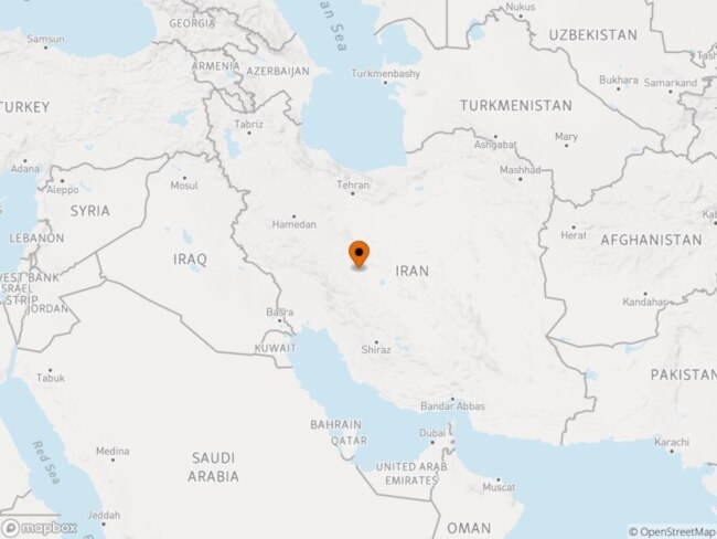 Isfahan is around 400 kilometers south of Tehran.