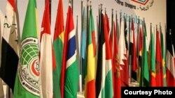 Флаги стран, входящих в Организацию Исламского сотрудничества.