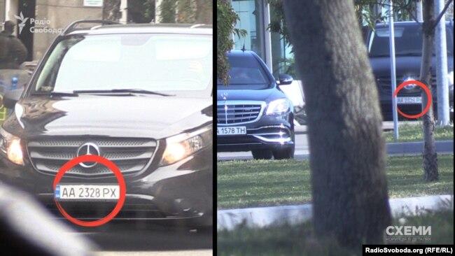 Неподалік від АП стояв мікроавтобус супроводу з кортежу Ахметова