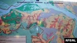 Мапа зсувонебезпечних місць Дніпропетровська