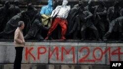 Umetnička intervencija na spomeniku u Sofiji, ilustrativna fotografija