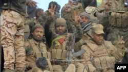 Šiitski borci koju učetvuju u oslobađanu Mosula od IDIL-a