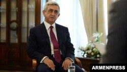 Армениянын премьер-министри Серж Саргсян. 18-апрель, 2018-жыл.