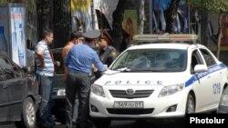 Armenia - Traffic police fine a driver in Yerevan, undated