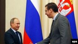 Predsednik Rusije Vladimir Putin i premijer Srbije Aleksandar Vučić u Moskvi, 28. oktobar 2015