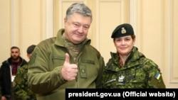 Президент України Петро Порошенко і генерал-губернатор Канади Жулі Пайєтт, 18 січня 2018 року