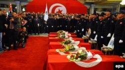 Ceremonia gjatë varrimit të të vrarëve, të rojës presidenciale.