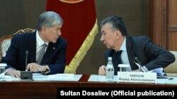 Алмазбек Атамбаев (слева) и Фарид Ниязов.