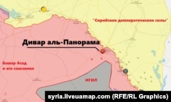 Расположение сил в Сирии. Карта с сайта syria.liveuamap.com от 3 ноября 2018 года
