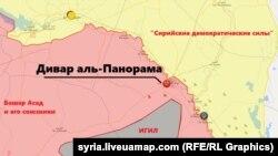 Место подорванного российского штаба. Карта с сайта syria.liveuamap.com от 3 ноября 2018 года