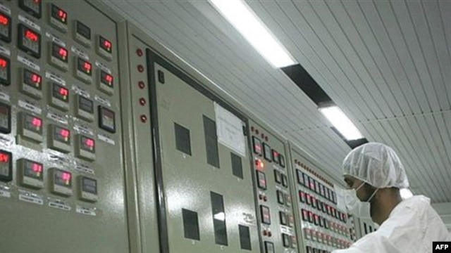The control room of the Isfahan uranium conversion facility, 420 kilometers south of Tehran.