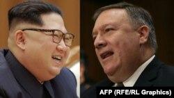 Ілюстративне фото: півнчнокорейський лідер Кім Чен Ин і держсекретар США Майк Помпео