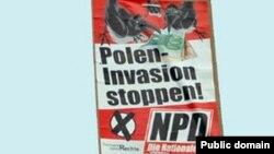 Gjermani -- Një poster i Partisë Nacional Demokratike (NPD) kundër emigracionit (ilustrim)
