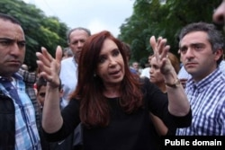 Президент Аргентины Кристина Киршнер в Толосе
