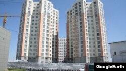 Бишкектин Жал-Артис кичи районундагы көп кабаттуу үй.