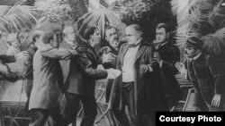 Покушение на президента Маккинли. Картина Дарта Уокера. 1905