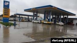 یک پمپ استیشن تیل در شهر کابل