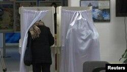 На избирательном участке в Москве. 18 сентября 2016 года.