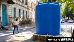 Резервуар для воды на улице Самокиша, Симферополь, 2 сентября 2020 года