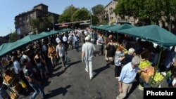 Գյուղատնտեսական շուկա Երևանում, արխիվ