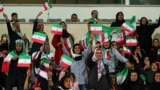 IRAN -- Iranian women - most of them family of players, federation employees and relatives, arrive as are allowed for the first time to take part at thea friendly soccer match between Iran and Bolivia at the Azadi Stadium in Tehran, October 16, 2018