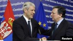 Борис Тадиќ и Жозе Мануел Баросо, Брисел, 28.02.2012.