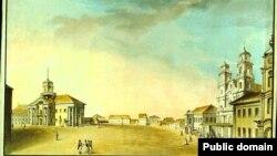 Менск мяжы XVIII і XIX стагодзьдзяў. Ю. Пешка. Высокі Рынак