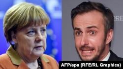Ангела Меркель и Ян Бёмерман