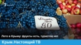 Лето в Крыму: фрукты есть, туристов нет   Крым.Настоящий ТВ (видео)